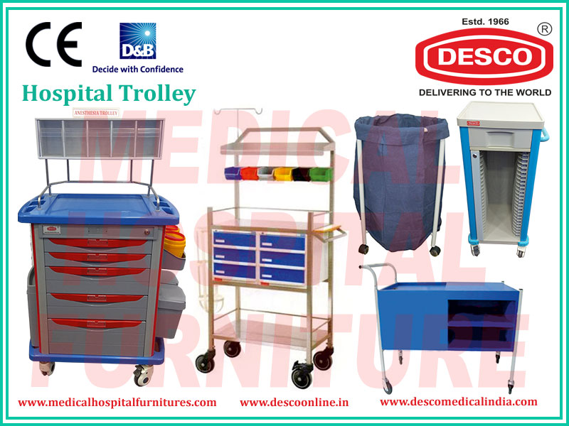 Hospital Medical Bedside Dressing Trolley