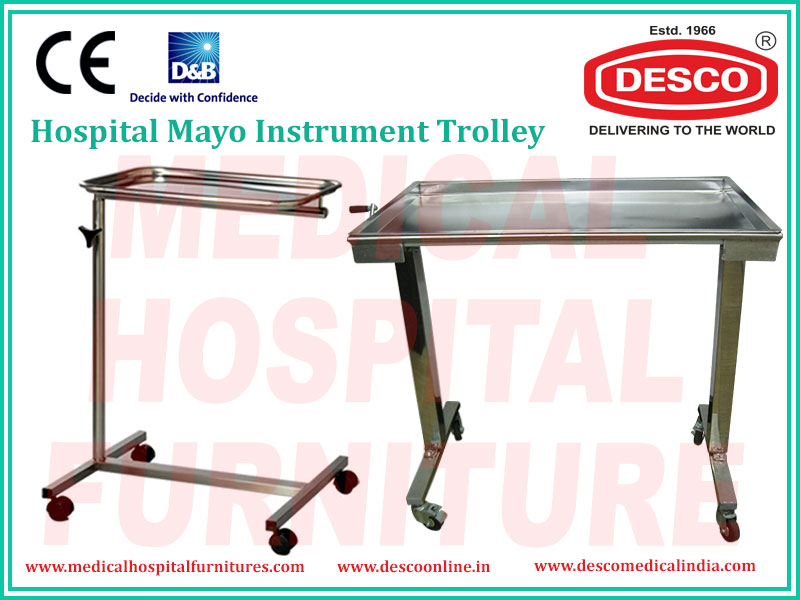 Hospital & Medical Mayo Instrument Trolley