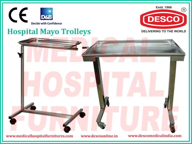 Mayo Stainless Steel Instrument Trolley