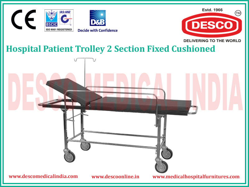 2 SECTION PATIENT TROLLEY DELUXE