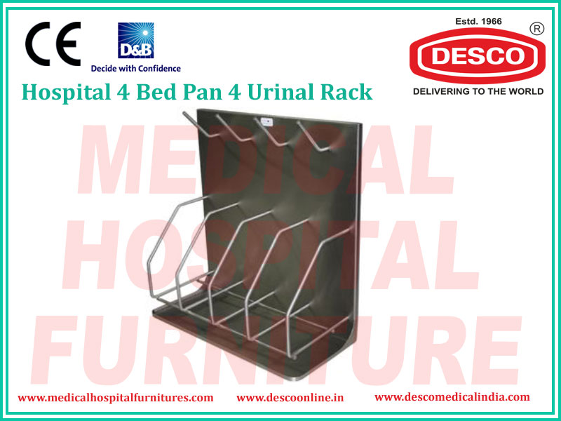 4 BED PAN 4 URINAL RACK