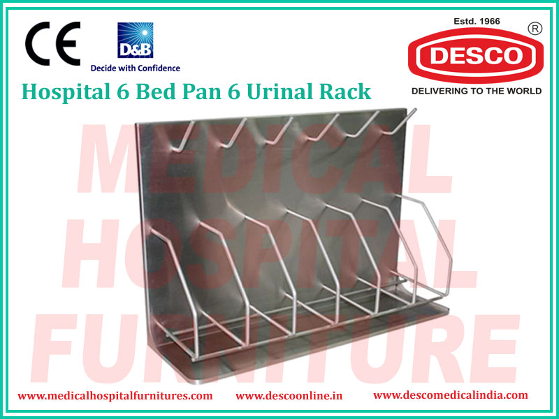 6 BED PAN 6 URINAL RACK
