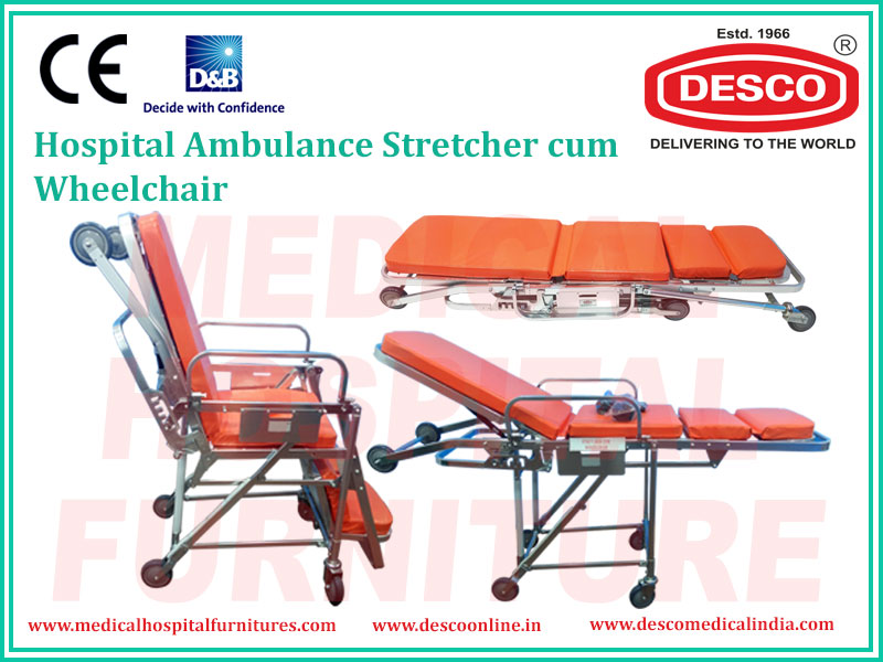 hospital stretcher cum wheel chair