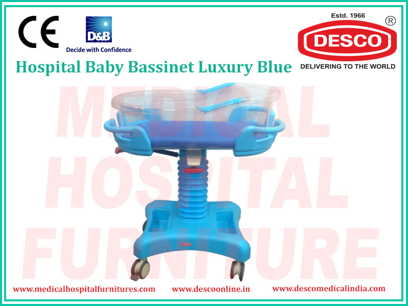 BABY BASSINET LUXURY BLUE