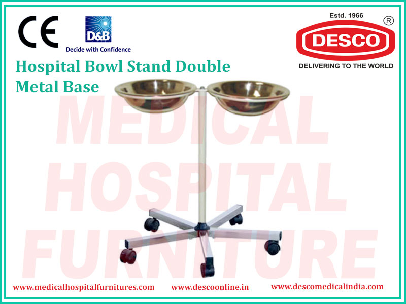 Hospital Bowl Stand with Metal Base