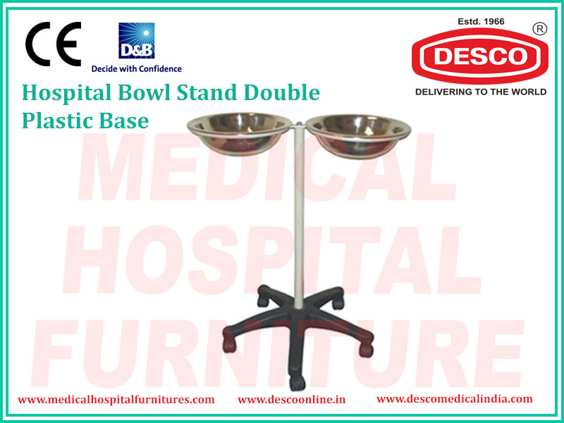 bowl stand with double plastic base