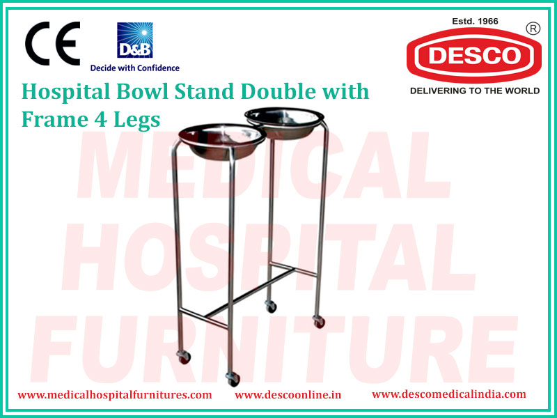 BOWL STAND DOUBLE WITH FRAME