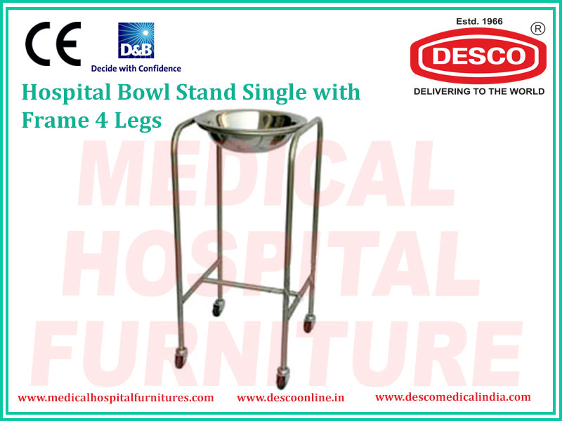 BOWL STAND SINGLE WITH FRAME 4 LEGS