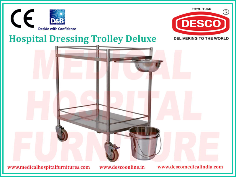 DELUXE DRESSING TROLLEY