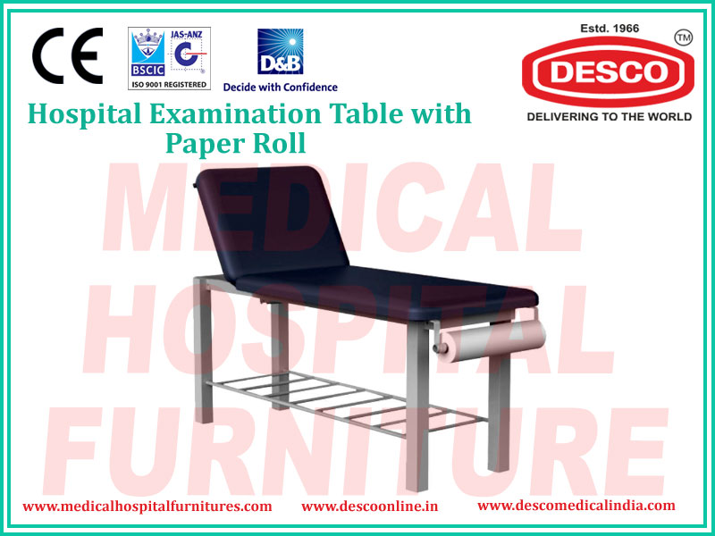 EXAMINATION TABLE WITH PAPER ROLL