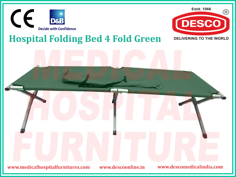 FOLDING BED 4 FOLD GREEN