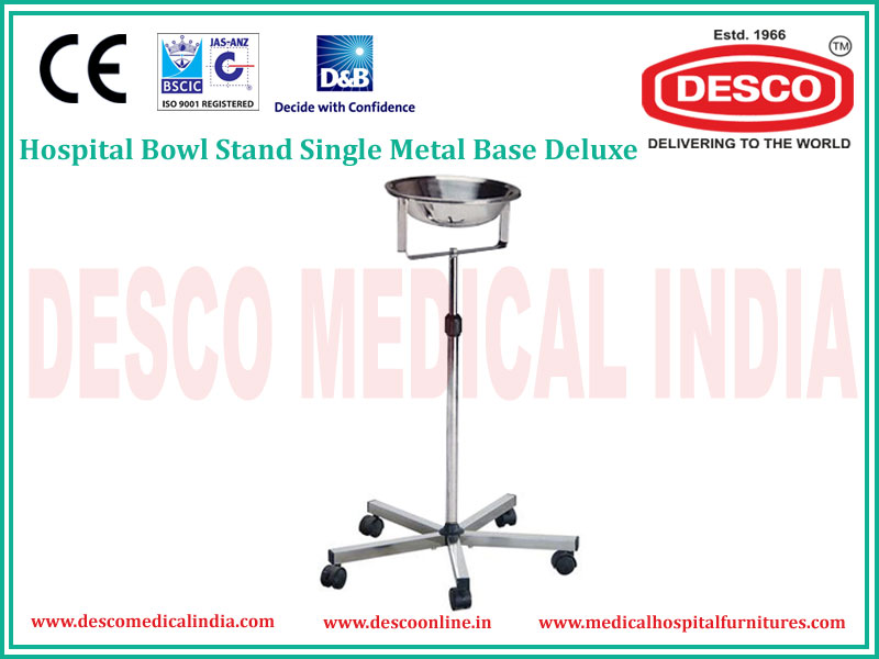 HOSPITAL BOWL STAND SINGLE METAL BASE DELUXE
