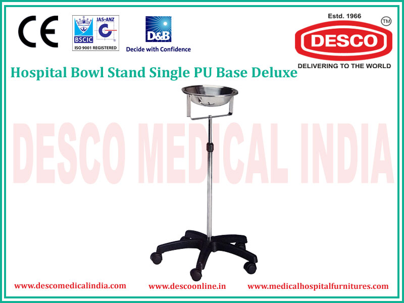 HOSPITAL BOWL STAND SINGLE PU BASE DELUXE