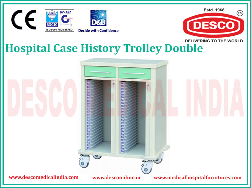 DOUBLE CASE HISTORY TROLLEY