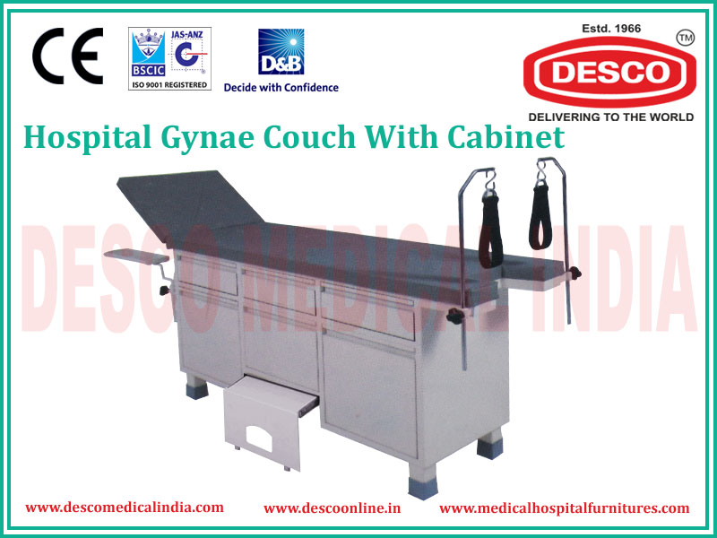 GYNAE COUCH WITH CABINET