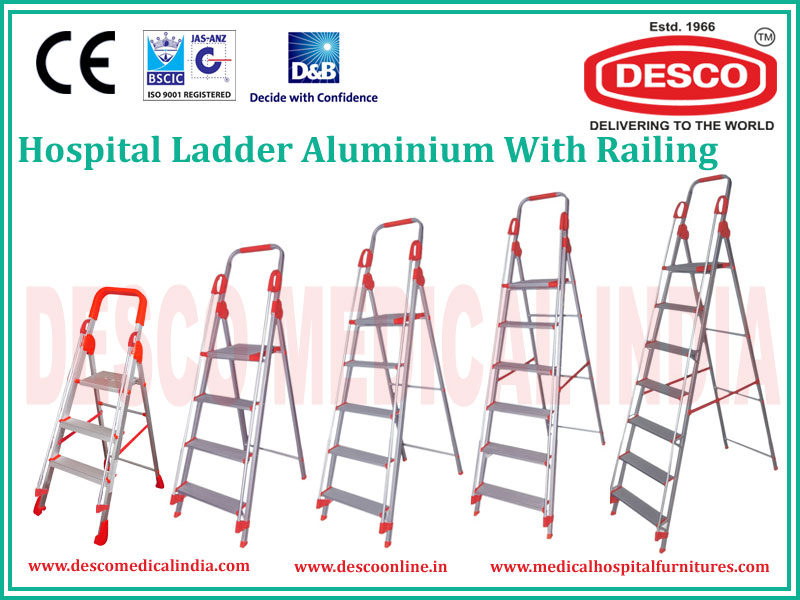 ALUMINIUM WITH RAILING LADDER
