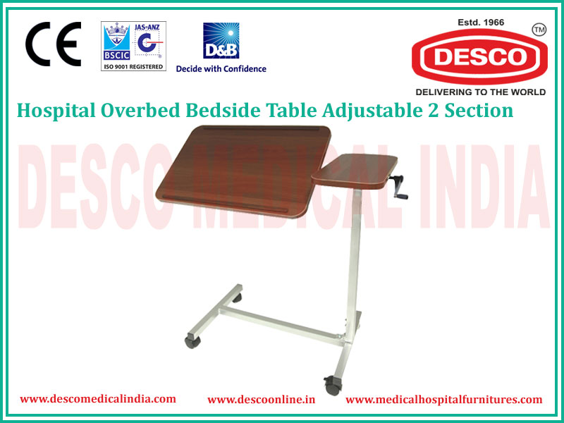 2 SECTION OVERBED TABLE