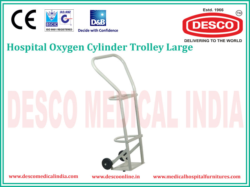 LARGE OXYGEN CYLINDER TROLLEY