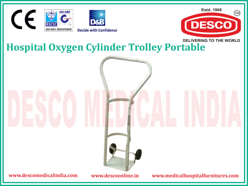 PORTABLE OXYGEN CYLINDER TROLLEY