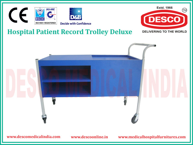 HOSPITAL PATIENT RECORD TROLLEY DELUXE