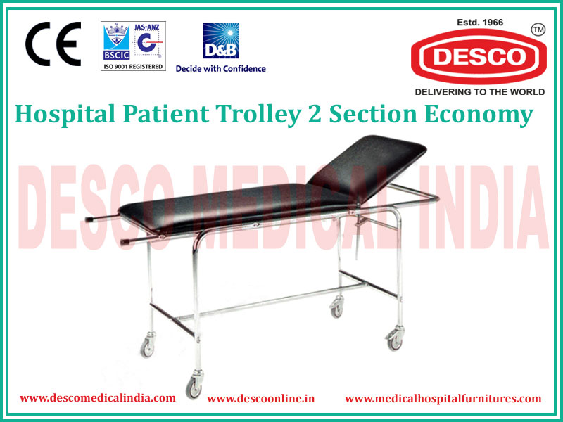 PATIENT TROLLEY 2 SECTION ECONOMY