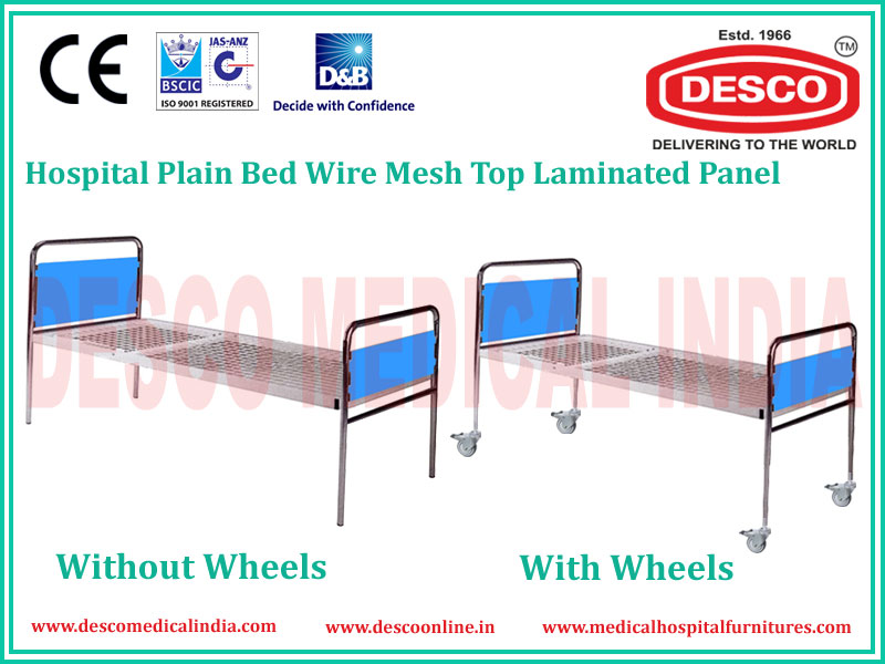 PLAIN WIRE MESH LAMINATED BED PANEL