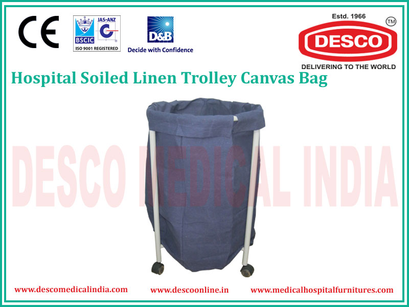 CANVAS TYPE SOILED LINEN TROLLEY
