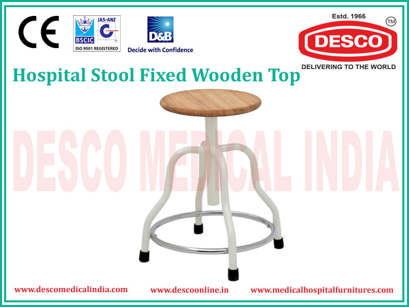 FIXED WOODEN TOP STOOL