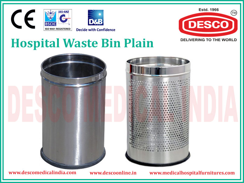 METAL WASTE BIN PLAIN