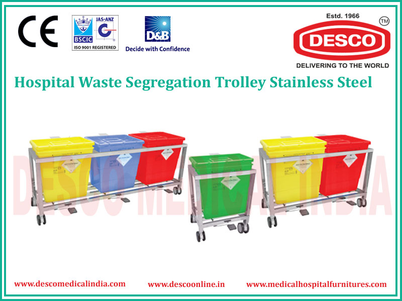 WASTE SEGREGATION TROLLEY S.S