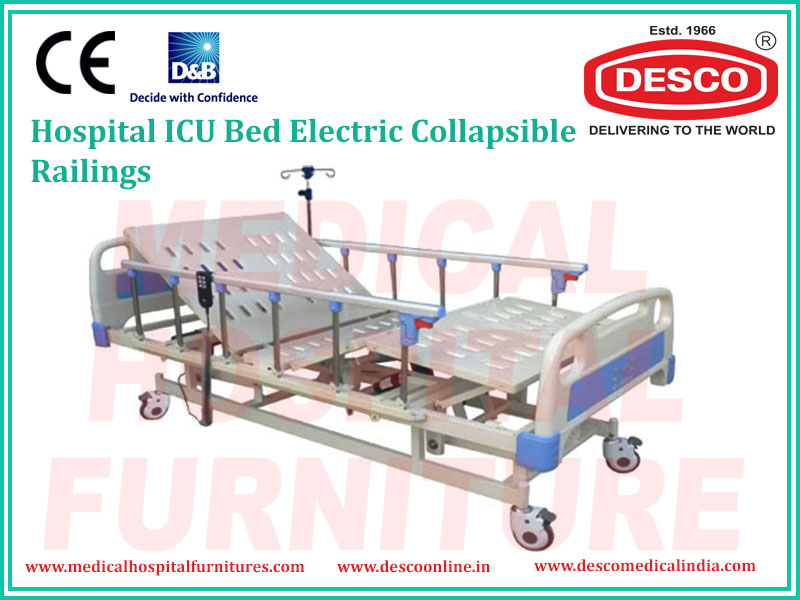 ICU BED ELECTRIC COLLAPSIBLE RAILINGS