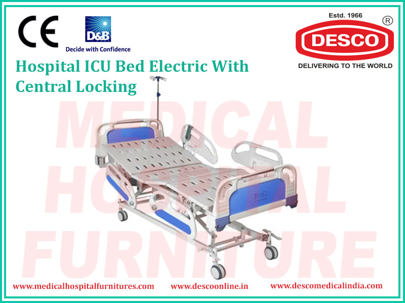 ICU BED ELECTRIC WITH CENTRAL LOCKING