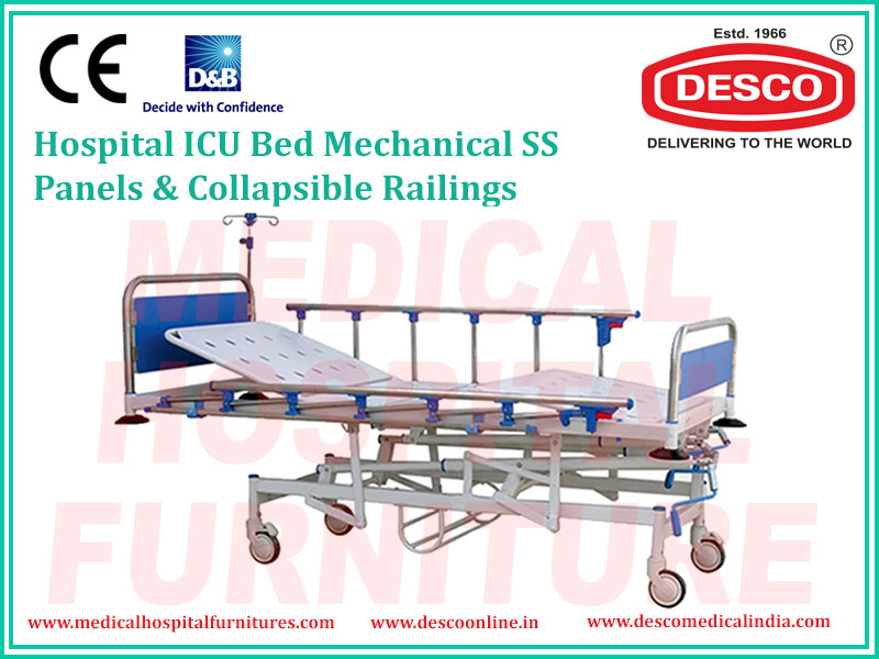 ICU MECHANICAL SIDE RAILING BED