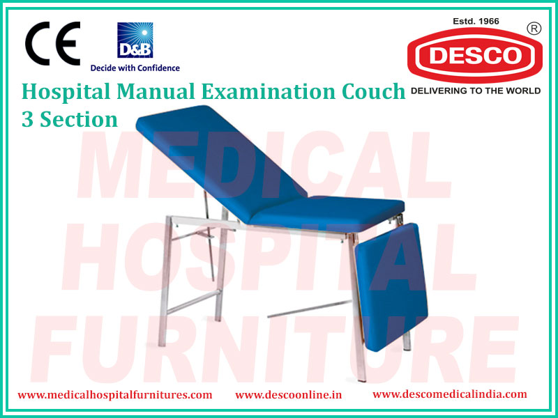 MANUAL EXAMINATION COUCH 3 SECTION