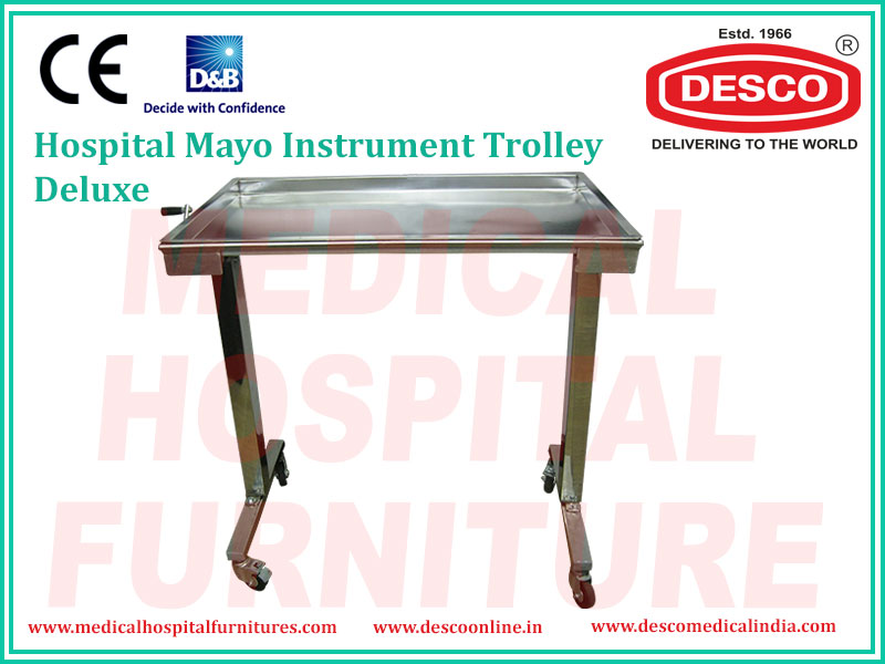 DELUXE MAYO INSTRUMENT TROLLEY