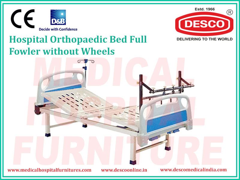 ORTHOPAEDIC BED FULL FOWLER WITHOUT WHEELS