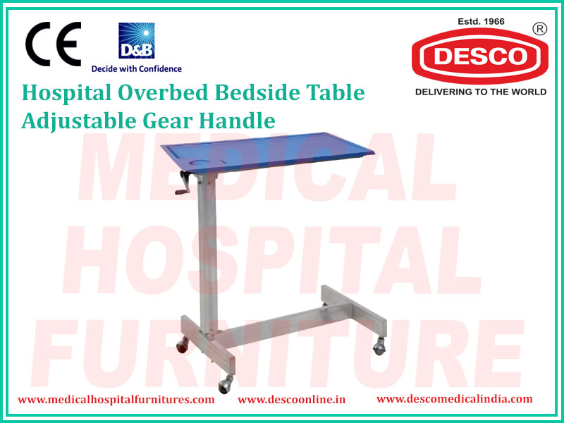 GEAR HANDLE OVERBED TABLE