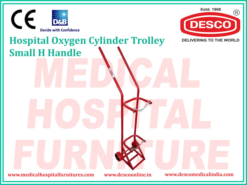 OXYGEN CYLINDER TROLLEY SMALL H HANDLE