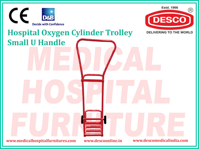 OXYGEN CYLINDER TROLLEY SMALL U HANDLE