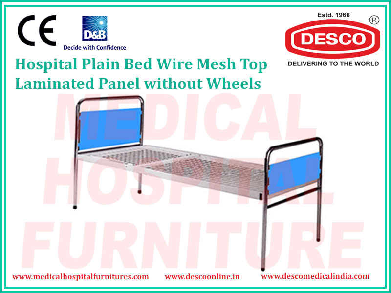 PLAIN BED WIRE MESH TOP LAMINATED PANEL WITHOUT WHEELS