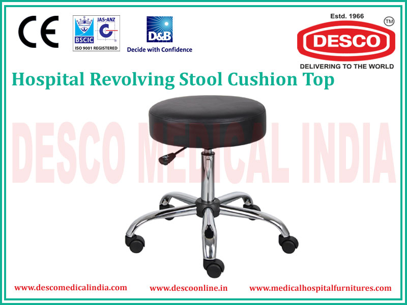REVOLVING CUSHION TOP STOOL