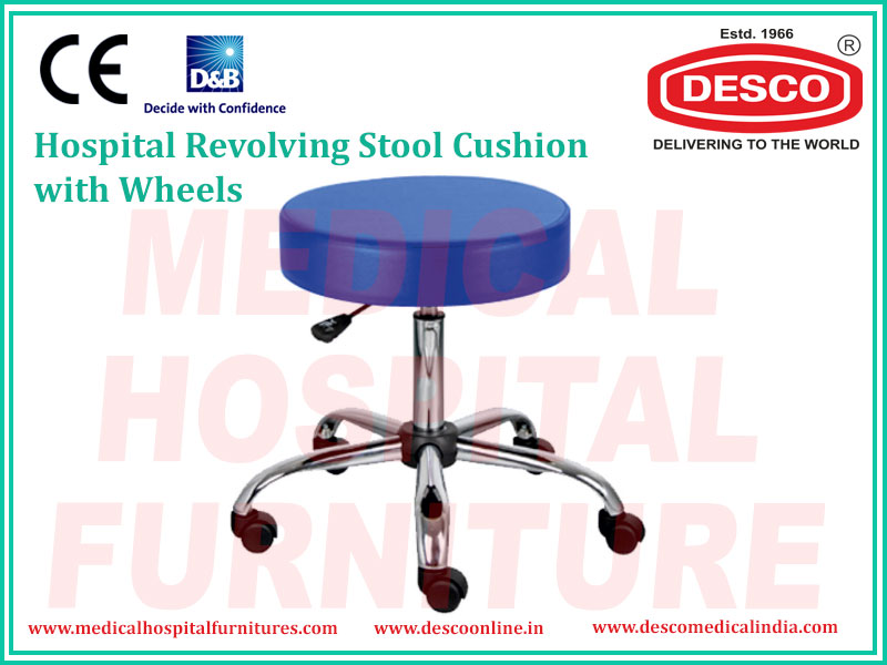 REVOLVING STOOL CUSHION WITH WHEELS