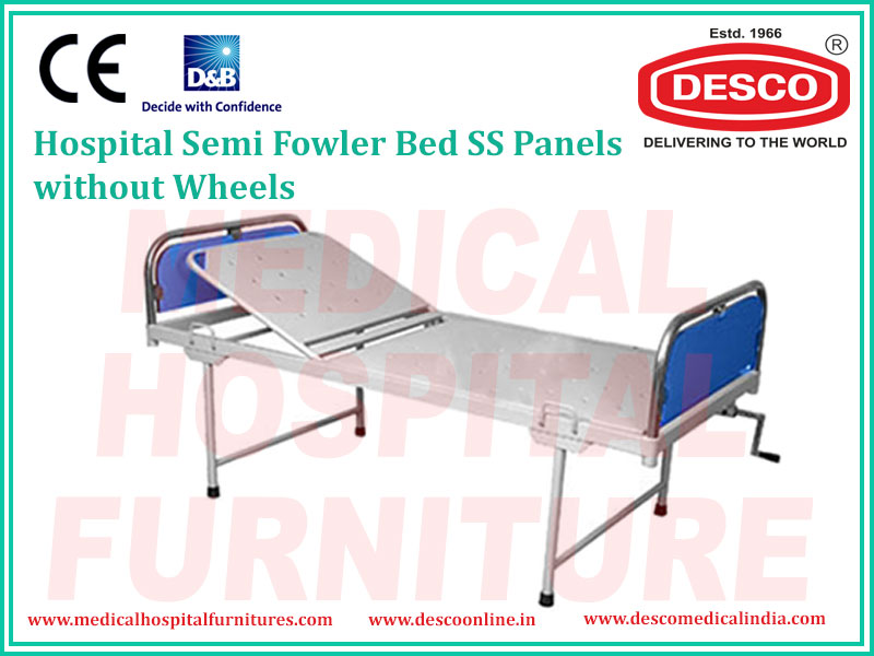 SEMI FOWLER BED SS PANELS WITHOUT WHEELS