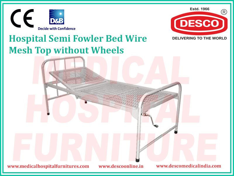 SEMI FOWLER BED WIRE MESH TOP WITHOUT WHEELS