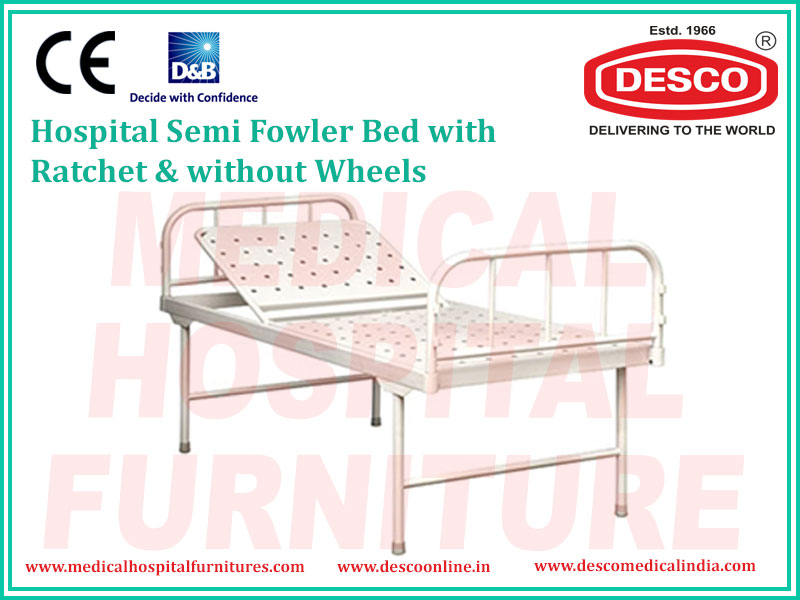 SEMI FOWLER BED WITH RATCHET & WITHOUT WHEELS