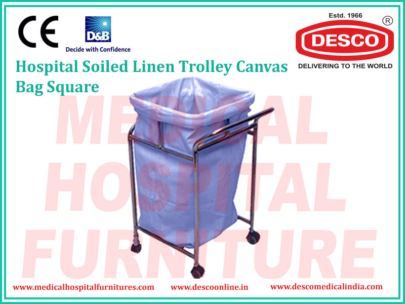SOILED LINEN TROLLEY CANVAS BAG SQUARE