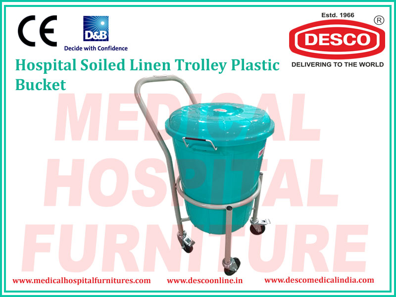 SOILED LINEN TROLLEY PLASTIC BUCKET