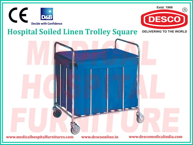 SOILED LINEN TROLLEY SQUARE