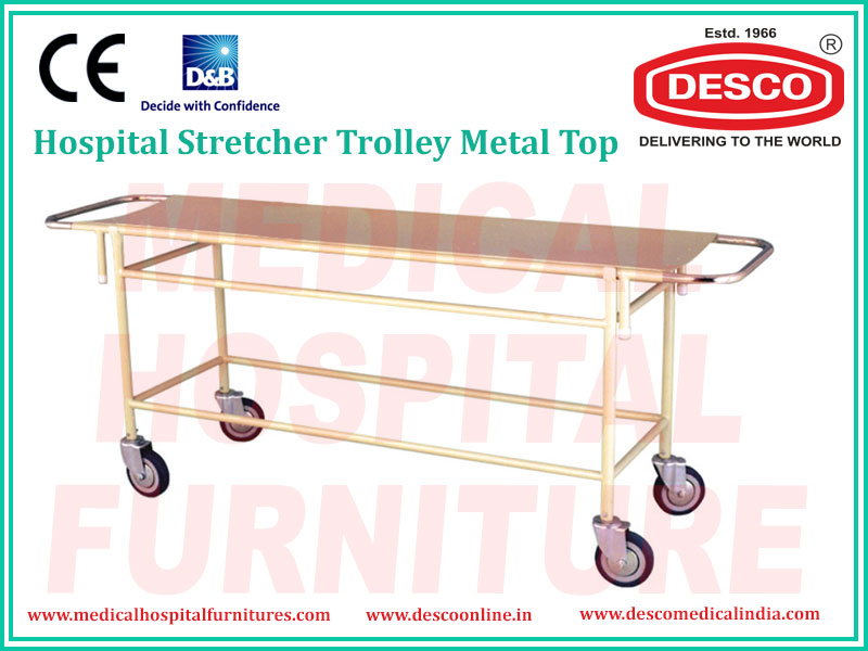 STRETCHER TROLLEY METAL TOP