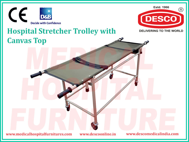 STRETCHER TROLLEY WITH CANVAS TOP